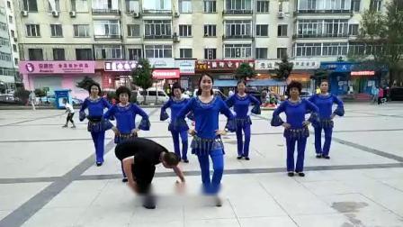 哈尔滨市金色阳光广场舞【夜来香】团队表演-领舞-小凤