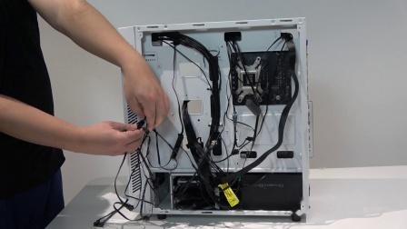九州风神玄冰55白色版机箱安装