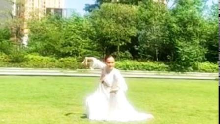 钟安娜,中道禅舞练习,怀孕6个多月跳