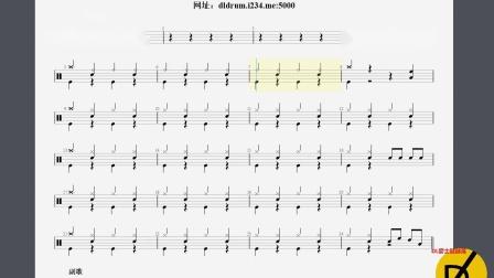 【DL爵士鼓】远走高飞-初学版动态鼓谱