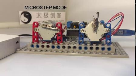 Arduino AFMotor 电机扩展板驱动28BYJ-48步进电机视频演示