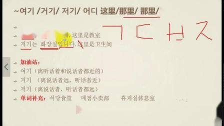 韩语语法基础入门学习第3节