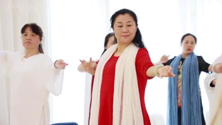 中道禅舞之家(总部)2019年种子班第1期第4天课程记录:金海老师带领基本功练习