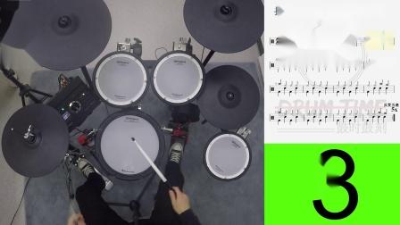 架子鼓零基础也能三节课学会打歌曲 第三课 实战歌曲 Rock 1 四分音符版