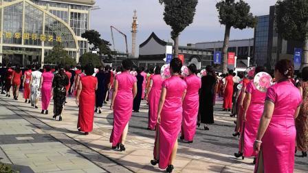 如皋花木城三八女神民族风味旗袍秀(33)