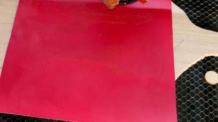 科泰激光4060激光雕刻机切割双面胶贴纸