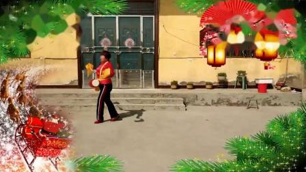 李庄秀芝广场舞【开门红】腰鼓舞附背面