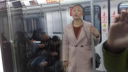 [2019.3]重庆地铁环线 渝鲁-重庆北站南广场 运行与报站&附换乘10号线过程