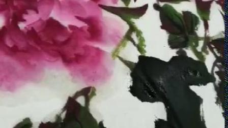 李克威國畫牡丹畫法(3)