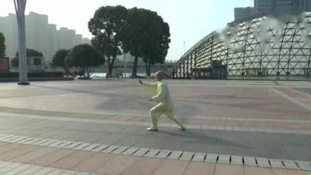 我在新编二十八式太极拳背向演练(张山主编)截取了一段小视频