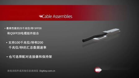 1分钟读懂 TE SFP28 和 QSFP28 电缆组件组合