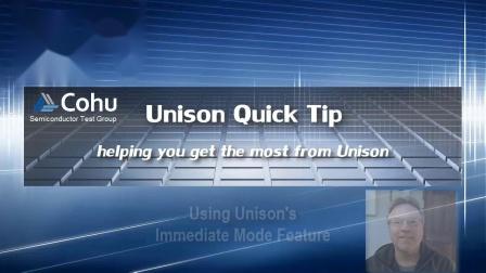 Using Unison TestTool Immediate Mode