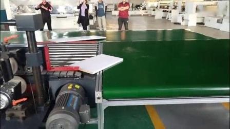 我在全自动封边机回转线工作台实机演示截了一段小视频
