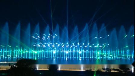 陕西咸阳双照湖水库喷泉激光秀
