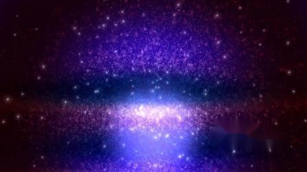 s305 2K画质唯美浪漫爱情梦幻蓝紫色粒子星空背景动态视频素材