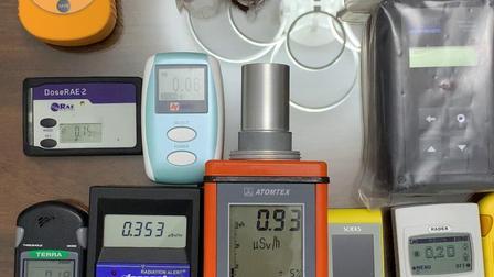 各种主流核辐射检测仪功能测试