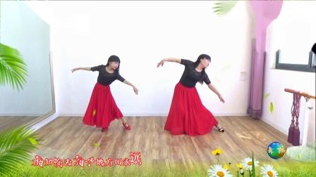 郭村小新广场舞 《站着等你三千年》(母女学跳吉美老师的中三舞步广场舞)