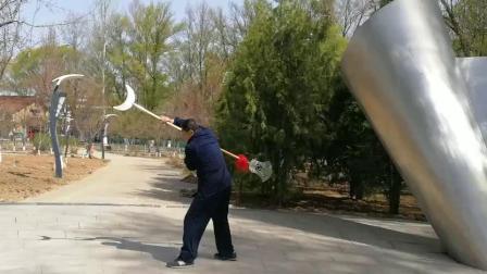 康加兵演练武术大铲