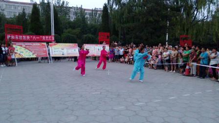 42式太极剑2015年7月28日剑舞瑛姿榆和社区表演