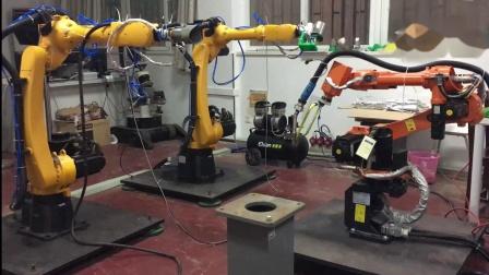 20180626  多机器人协作完成管管工件的物理焊接实验(完整版)