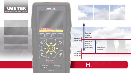 AMETEK HPC50型多功能压力校验仪 - 差压清零功能