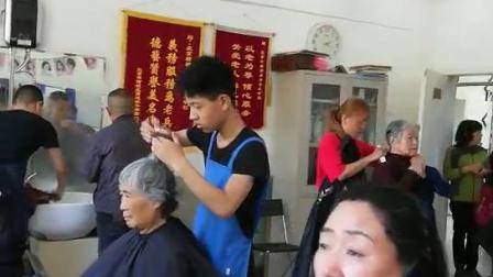 北京标榜美容美发学校学员们真人实操剪发烫发染发