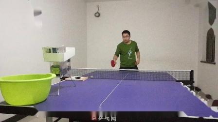 玩乒乓球发球机 正手挑打20190502