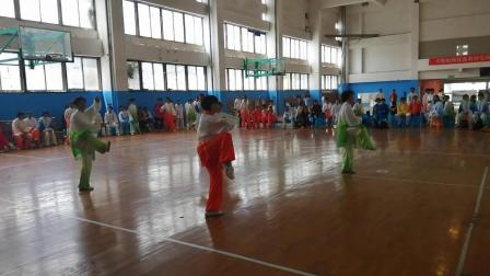 42式个人太极拳在镇江老年体协比赛现场