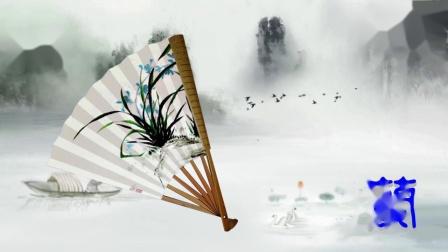 中国折扇展示