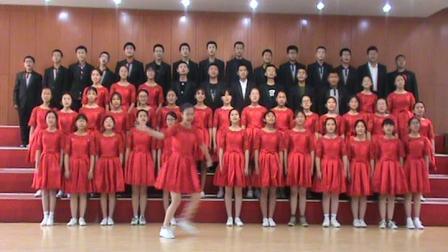郑州十九中百花合唱团演唱豫剧《谁说女子不如男》