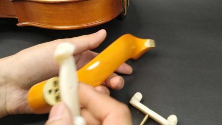 猛犸象小提琴木肩托大小调节方法