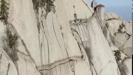 航拍天下第一险山,西岳华山。