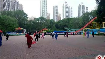 吉林江南公园太极站 晨练花絮