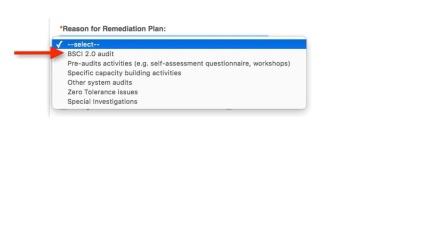 Remediation plan for participants re-up