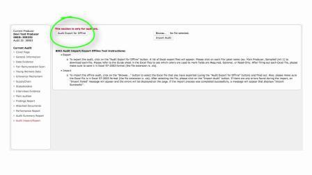 The Offline Audit Form re-uploaded 2019