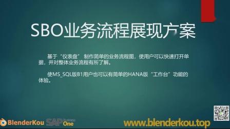 SAP Business One 业务流程展现方案[仪表盘]