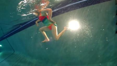 Pulled Underwater by 30 Pound Weight