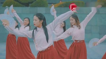 橙子柔情演绎《霜雪千年》,筝与舞的完美交融~