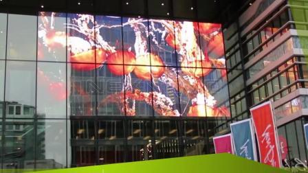 NEXNOVO晶泓科技-荷兰海牙商场透明LED显示屏项目