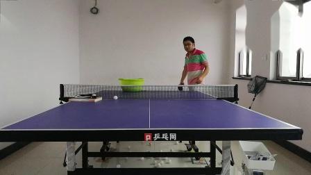 【自学乒乓球】会拐的球(难练)20190612