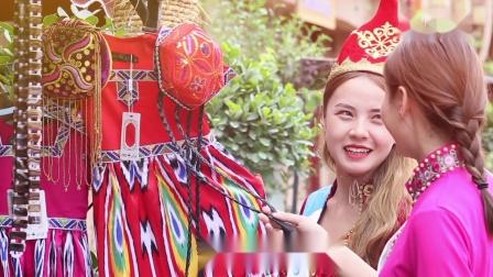 国际小姐新疆赛区总决赛佳丽亮相喀什古城