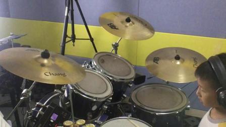 鼓舞打击乐学员  廖烨舸  五级曲目《摇滚风格一》