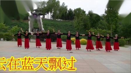 哈尔滨冰雪广场舞【一朵云在蓝天飘过】集体版