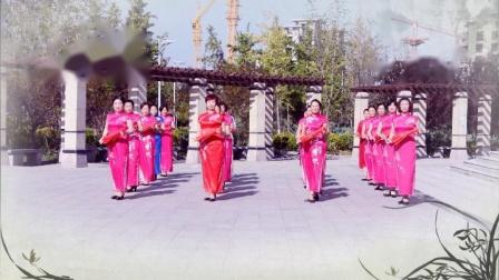 获嘉县广场舞协会艺术团旗袍伞秀《红梅赞》表演附教学