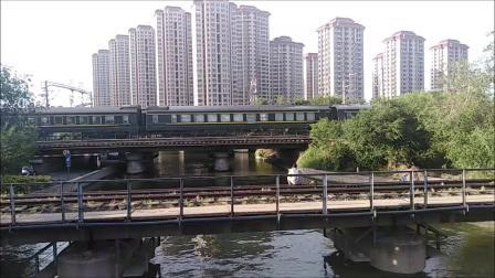 火车视频2019年天津河东月牙河北路拍车