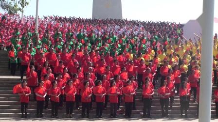 百团万人颂祖国🌹🌻🌺 (中间绿衣服为阳泉干部合唱团参加了开幕式)