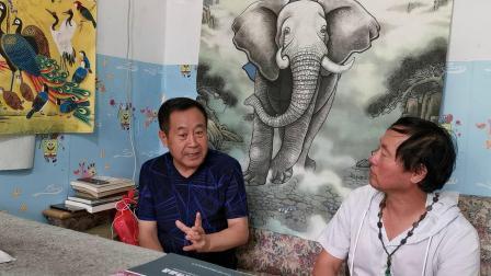 CCTⅤ牛恩发现之旅:再访中国大象名画家:刘星辰。(北京平谷)