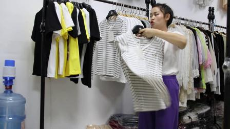 2019年最新精品女装批发服装批发时尚服饰时尚女士新款夏装特价棉短T30件一份,视频款可挑款零售混批~1.mp4