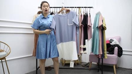 2019年最新精品女装批发服装批发时尚服饰时尚女士新款夏装连衣裙30件起批,视频款可挑款零售混批.mp4