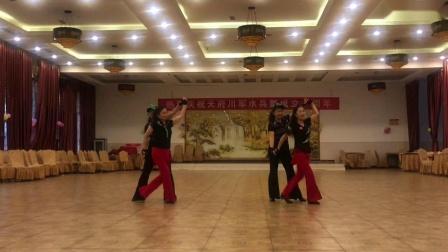 四位美女表演陶然水兵舞第十四套《天长地久》
